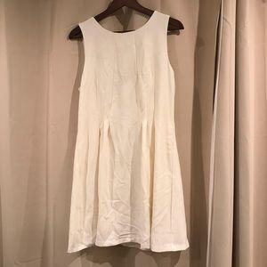 Forever 21 Contemporary White Dress Sz L (#X1)